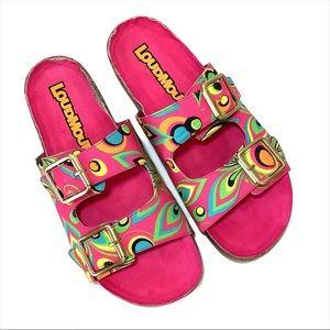 Loud Mouth Bailey Pink Shagadelic Slide Sandals 9M